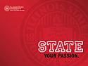 Illinois State - White PowerPoint thumbnail